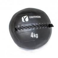 4 kg wall ball med kraftig kunstæder og krydssyninger