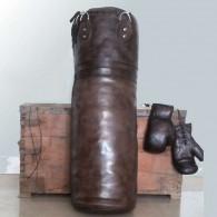 Boksesæk og handsker i ægte læder