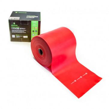Gentræningselastik med medium modstand i farven rød