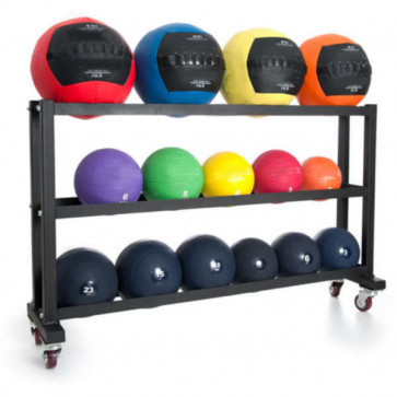 Opbevaring af bolde på 3 rækker