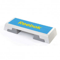 Step bænk fra Reebok. Aerobic bænk med justerbare højder.