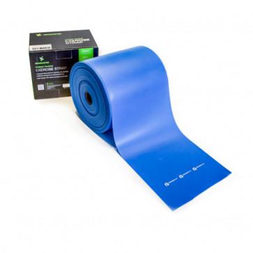 Hård træningselastik i farven blå og beregnet som hård modstand