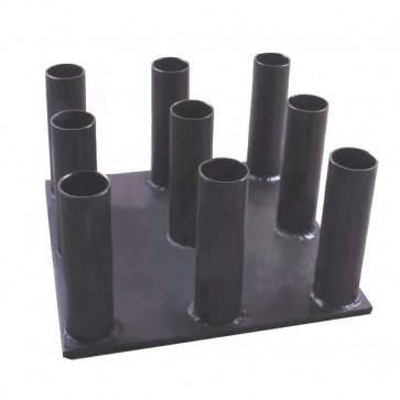 Lodretstpende vægtstangsholder til 50 mm vægtstænger 9 stk