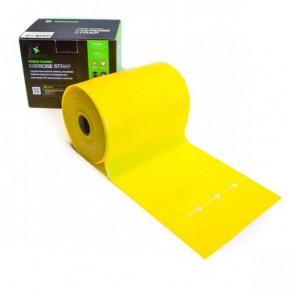 God træningselastik i farven gul og med en let modstand.