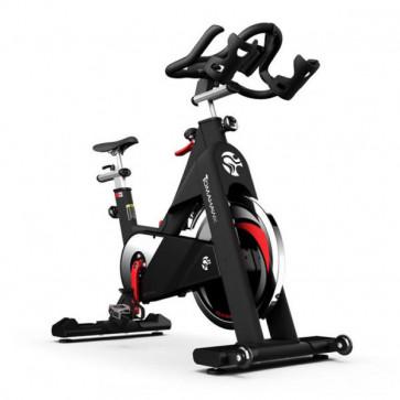 Spinning cykel med pulverlakeret stel og 20 kg svinghjul. God spinningcykel til hjemmet.
