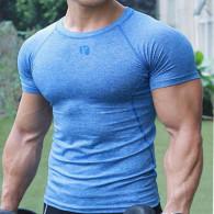 Trænings T-shirt i blå