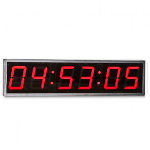 Interval timer med 6 cifre i klart LED